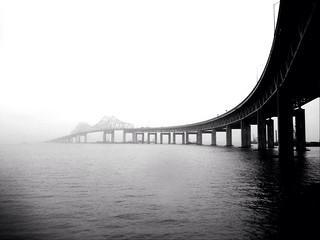 Tappan Zee Bridge in the Winter Fog