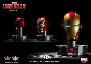 King Arts - 鋼鐵人3:1/5 比例鋼鐵人高級頭盔系列 ( 第一彈 )