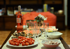 Happy New Year (a.Muller) Tags: camera friends party dinner table photography glasses photo nikon dof photos bokeh champagne tomatoes picture class depthoffield newyearseve salami happynewyear canapé aperitif apéro