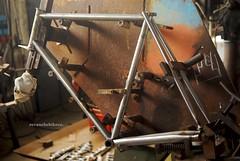 Columbus Spirit Road bike. (cyclingbyferretti) Tags: columbus italy bicycle italian spirit steel artesanal fork frame bd artisan bicicletta acero acciaio framebuilding brazing forcella brazed filletbrazed artigianale steelisreal fattoamano simoncini dedacciai filletbrazing revanchebikeco emanuelferretti