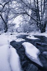Snow Covered Creek (FarzinPhoto) Tags: longexposure winter snow ice creek river landscape flow frozen colorado stream boulder co wonderland farzinphoto farzinmontazersadgh