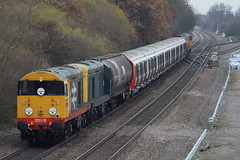 20118+20107 tube stock move stenson juntion (railways.2011) Tags: trains class 20 railways 20118