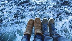 Juntos, sobre todo (Francisca A.) Tags: ocean chile trip viaje sea patagonia love water puerto mar couple barco pareja amor pies andes sweetness montt cordillera espuma puertomontt ocano austral cordilleradelosandes naviera donbaldo