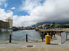 View of Table Mountain under a huge tablecloth (Linda DV) Tags: africa travel rain canon southafrica geotagged waterfront capetown cape sight vawaterfront kaapstad southernafrica victoriaalfredwaterfront 2013 geomapped nobelsquare lindadevolder powershotsx40