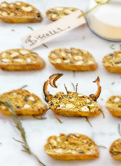 Biscotti Crab (R V S Photography) Tags: food art canon photography 85mm crab s biscuit v r richard 12 sutton biscotti foodie rvs richardsutton rvsphotography