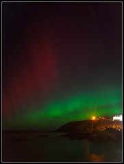 Aurora, Portpatrick (ShinyPhotoScotland) Tags: longexposure colour night stars scotland unitedkingdom harbour places astrophotography aurora astronomy portpatrick auroraborealis atmosphericoptics phenomena atop dumfriesandgalloway gbr darktable