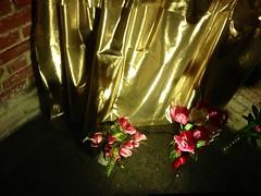 altar (LauraSorrells) Tags: pink roses green vivid altar silence christianity monasteryoftheholyspirit