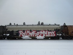 R F M (YardJock) Tags: railroad art graffiti spraypaint boxcar hopper freighttrain rollingstock benching paintedsteel