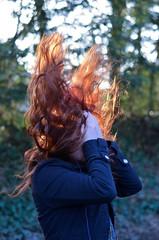 71/365 (EmilyNinja) Tags: selfportrait backlight emotion bokeh 365 redhair goldenhour hairflip 2014