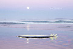 Australia (john white photos) Tags: moon reflection freedom surf waves surfer board australian australia surfing full surfboard moonlight wreckbeach