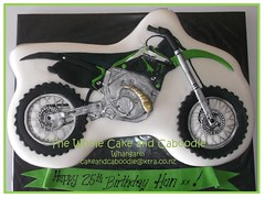 get on your bike (The Whole Cake and Caboodle ( lisa )) Tags: cakes bike cake motorbike motorcycle dirtbike kawasaki whangarei caboodle thewholecakeandcaboodle adultbirthdaycakeswhangarei