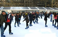 """Go against the flow"" Bryant Park, NYC (iEagle2) Tags: nyc newyorkcity usa newyork ice december manhattan skating bryantpark 2010 samsungdigimaxl85"