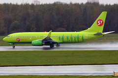 S7 Airlines, VP-BDF, Boeing 737-8Q8 (Anna Zvereva) Tags: plane airport aviation airbus boeing spotting dme domodedovo  uudd