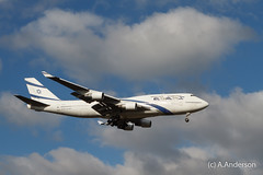 Boeing 747-400 4X-ELA ElAl 20150206 Heathrow (steam60163) Tags: heathrow boeing747 heathrowairport elal