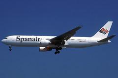 Spanair B767-3Y0/ER EC-FCU BCN 03/08/1997 (jordi757) Tags: barcelona nikon airplanes bcn kodachrome boeing 767 f90x kodachrome64 avions b767 elprat spanair b767300 lebl ecfcu