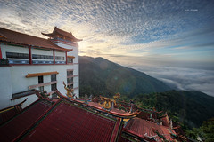 Sunrise (Alex cheong) Tags: cloud sunrise landscape temple malaysia luminosity gentinghighland 3exposure chinsweetemple sonya7 sony1018mm manuallyblend ventinghighland