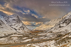The Long Curve (Shuggie!!) Tags: winter snow mountains clouds landscape scotland highlands williams hills karl glencoe roads hdr eveninglight zenfolio karlwilliams
