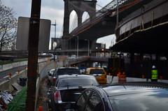 Dirt (timothee B.Prud'homme) Tags: city nyc bridge usa newyork trash 35mm nikon manhattan dirt brooklynbridge d7000