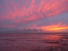 Firey Sunset Leigh-on-Sea 2 (Adam C Firth) Tags: light sea sky seascape thames clouds reflections landscape seaside yacht north dramatic wideangle stormy estuary gateway marsh colourful proposal landschaft nordsee sonnenaufgang essex mudflats leighonsea themse kste isleofgrain southendonsea marshlands tamise maplin foulness mndung hoopeninsula daarklands thamesestuaryairport