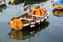 New Dawn (dorsetpeach) Tags: sea england reflection water boat harbour calm dorset rowing weymouth weymouthharbour rowingboat newdawn
