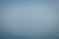 Alone (quiltershaun) Tags: ocean travel blue sea sky white seascape water misty landscape boats outside boat nikon view centre sail d3200