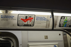 Ny Logic (zac evans photography) Tags: city nyc urban newyork car brooklyn train subway island metro ad queens mta poles manhatten staten routine saftey yaszacevansphoto