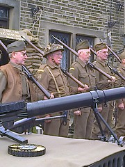 photo1508 (melissawhitaker503) Tags: vintage boots weekend khaki 1940s ww2 soldiers guns uniforms drill haworth 2016