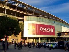 Nou Camp / Barcelona (rob4xs) Tags: barcelona favorite football spain fussball stadium catalunya stadion futbol bara fcbarcelona noucamp ftbol voetbal spanje fcb qatarairways blaugrana cataloni estadi iphonephoto