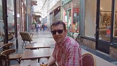 DSCF5293 Passage Verdeau, Paris (Thomas The Baguette) Tags: paris france art sepia architecture shopping mosaic passages kittens galerie arcades zombies clocks colbert jouffroy shoppingarcade choiseul sexyguy galeriecolbert passagescouverts galerievivienne verdeau