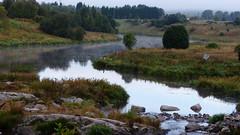 Misty River Aurajoki below Rapid Halistenkoski (Halinen, Turku, 20150906) (RainoL) Tags: morning autumn mist misty finland river landscape geotagged turku september fin aurajoki bo 2015 varsinaissuomi halistenkoski 201509 egentligafinland 20150906 geo:lat=6046510655 geo:lon=2230490022