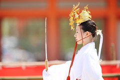 With sword (Teruhide Tomori) Tags: portrait festival japan lady dance kyoto stage performance event   tradition japon    heianjingushrine