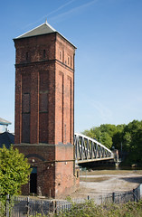 Moore lane swing bridge 03 may 16 (Shaun the grime lover) Tags: bridge tower canal ship cheshire swing moore hydraulic accumulator halton manchestershipcanal