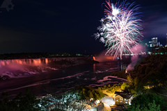 Fireworks at the Falls (Benson Chan Photography) Tags: longexposure night canon niagarafalls fireworks outdoor falls 6d