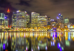 On Reflection (Richard Cartawick) Tags: city nightphotography reflection water skyline night reflections cityscape nightlights nightscape harbour sydney skylines australia newsouthwales darlingharbour nightscapes waterreflections reflectionsinwater