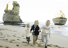 On the beach at Gibsons Steps (megahan7) Tags: ocean road family portrait beach kids spectacular landscape happy great steps australia siblings gibsons