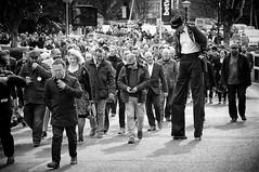 Daddy Longlegs (Steve Greene Photography) Tags: street people urban blackandwhite man monochrome candid crowd streetphotography cheltenham nikond40