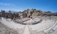 The Greek Theatre, Taormina, Sicily (Roland B43) Tags: italy fisheye sicily taormina 8mm etna greektheatre samyang