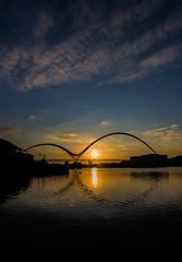 Infinity Bridge sunset (simon.mccabe.5) Tags: infinity stockton brigde tees