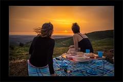 Monchique Sunset (Norman Treffkorn) Tags: sunset people sun portugal wind picknick monchique