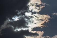 Sun and iridescent clouds (Sculptor Lil) Tags: sky sun london weather handheld iridescence atmosphericoptics iridescentcloud canon700d dslrsingleexposure