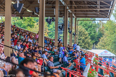 Grandstand Crowd (Samantha Decker) Tags: ny newyork upstate saratogasprings nyra canonef135mmf2lusm saratogaracecourse canoneos6d samanthadecker