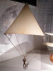 Leonardo's Parachute - Model (Phil Masters) Tags: london museum leonardo sciencemuseum parachute sciencemuseumlondon leonardodavinci leonardosparachute 5thapril april2016 leonardodavincimodel leonardomodel
