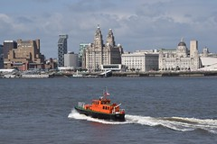 The Liver buildings (helen@littlethorpe) Tags: liver buildings liverpool mersey pilot boat