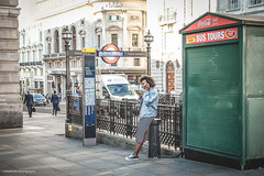 Somewhere, something incredible is waiting to be known. 'Carl Sagan' (sara.wendelmelhuish) Tags: road london corner square waiting phone tube piccadillycircus phonecall tubestation w1 westend