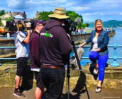 Scotland Greenock Scottish Grand Prix of the Sea a commentator and film crew from greenlight.tv 18 June 2016 by Anne MacKay (Anne MacKay images of interest & wonder) Tags: sea film june by anne scotland greenock picture scottish grand prix crew mackay 18 cameramen commentator 2016 xs1 greenlighttv