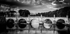 Tiber (Matthew Johnson1) Tags: blackandwhite italy rome reflection river tiber lazio