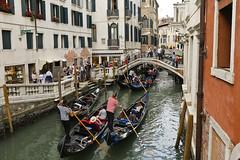 Busy Canal (ramislevy) Tags: bridge venice italy gondola gondolier