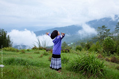 ... (Saptak Ganguly) Tags: nature childhood fun freedom child cloudy hill
