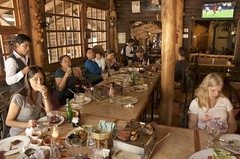 a great lunch (Pejasar) Tags: food restaurant greatlunch grilled lunch time finished people groupshot interior windows baby