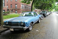 Streetwise (Flint Foto Factory) Tags: street city urban chicago classic chevrolet car illinois spring gm view personal parking north platform may front glenwood chevy american clark parked carlo monte parallel andersonville luxury coupe 1973 edgewater balmoral colonnade abody generalmotors intermediate 2016 landau midsize 2door threequarter